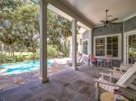 Pool Deck with Golf Course Views at 7 Sea Lane